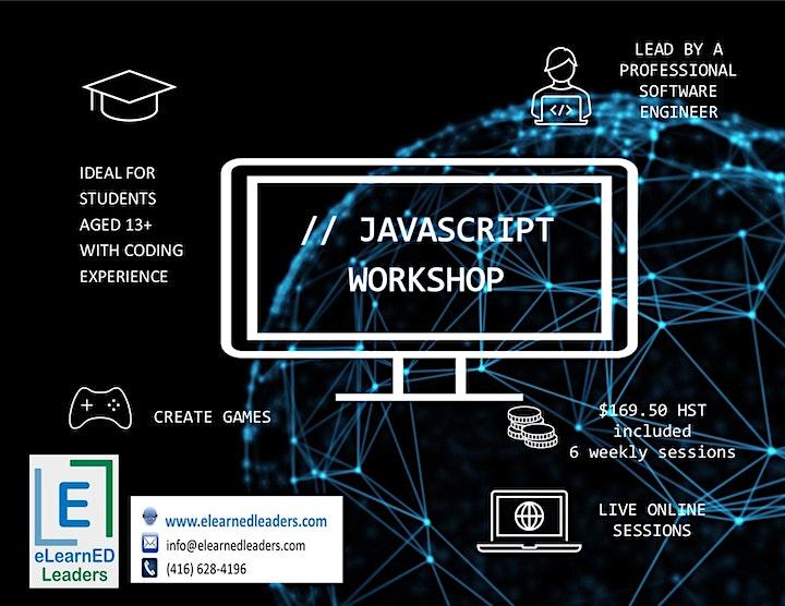 Javascript - Intermediate Coding for 13+ (6 classes) image