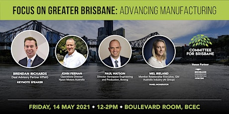 Focus on greater Brisbane – Advancing Manufacturing tickets
