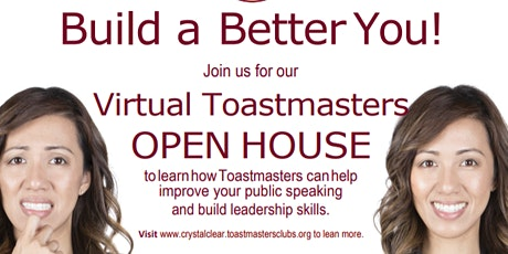 Toastmasters Club - Open House May 18th, 2021 Tue 7:00pm - 8:30pm tickets