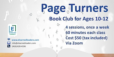 Page Turners - Virtual Book Club for Ages 10-12 (4 sessions) tickets