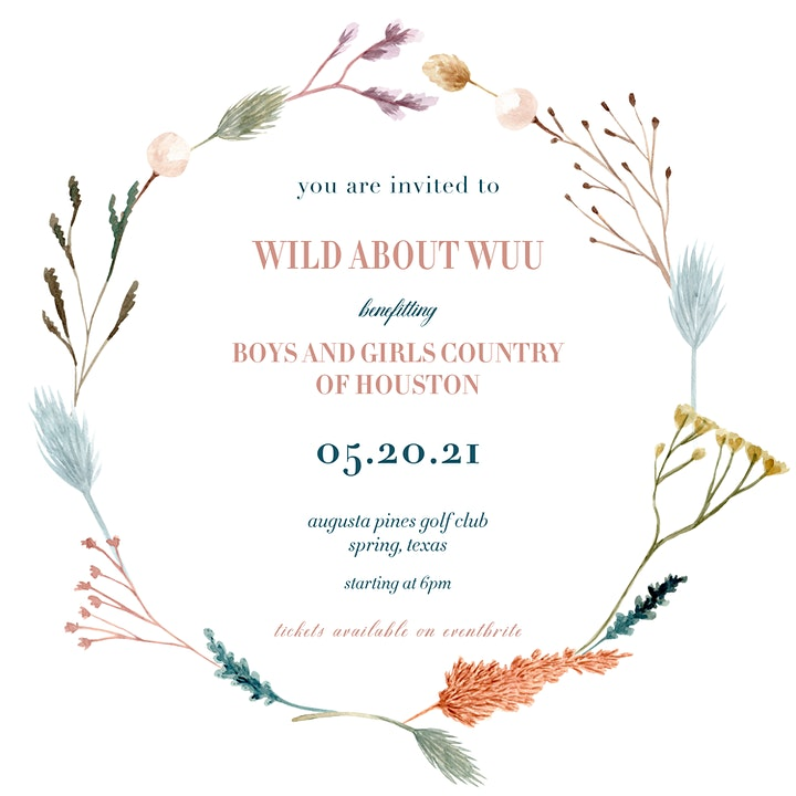 WILD ABOUT WUU // benefitting Boys and Girls Country image