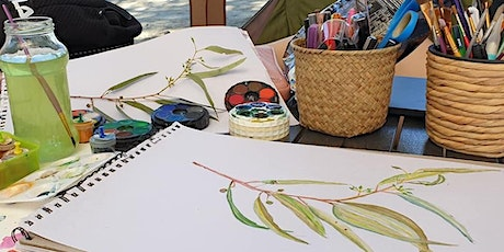 River gum drawing and watercolours workshop  from 9:30am - 12noon 13yr & up tickets