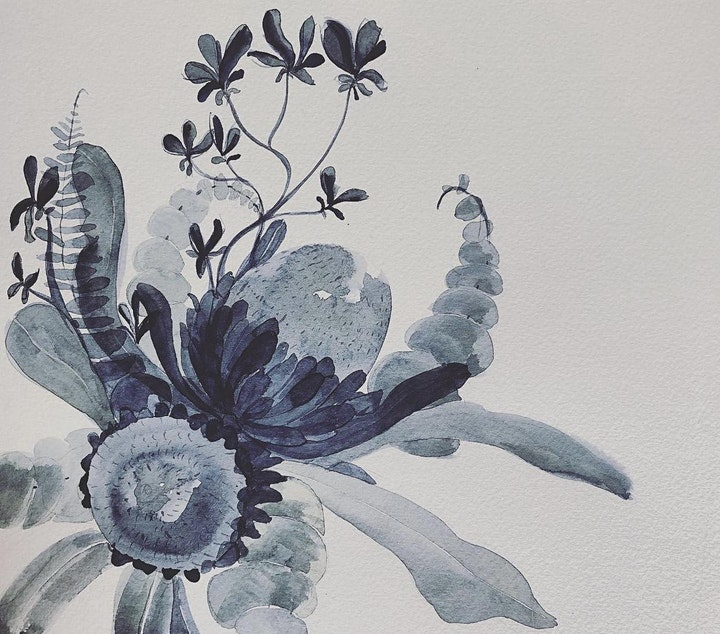 Introduction to Watercolours - Beautiful Botanicals with Natalie Popovski image
