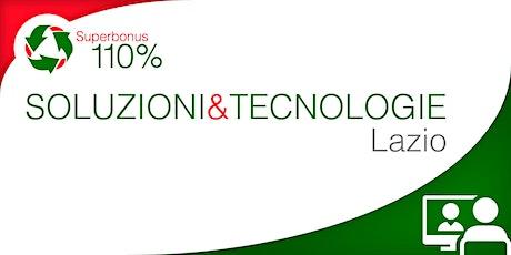 LiVEonWEB | Superbonus LAZIO:  aggiornamenti e soluzioni tecniche biglietti