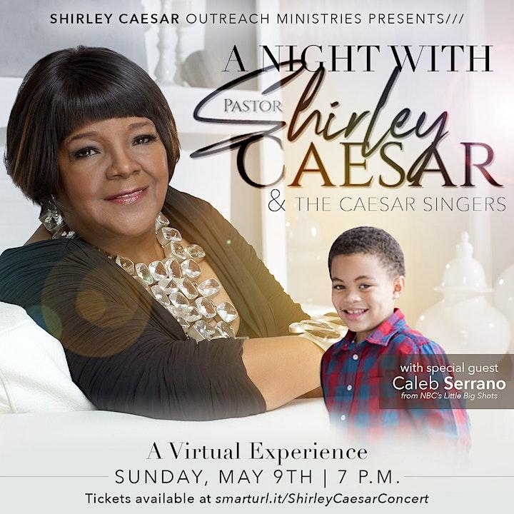 A Night With Shirley Caesar  & Guest  Caleb Serrano image