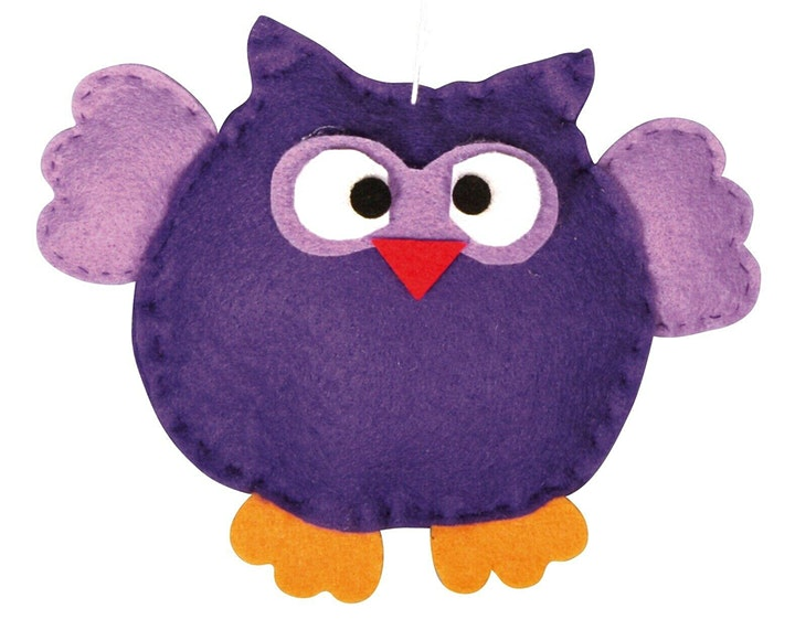 Create a felt owl image