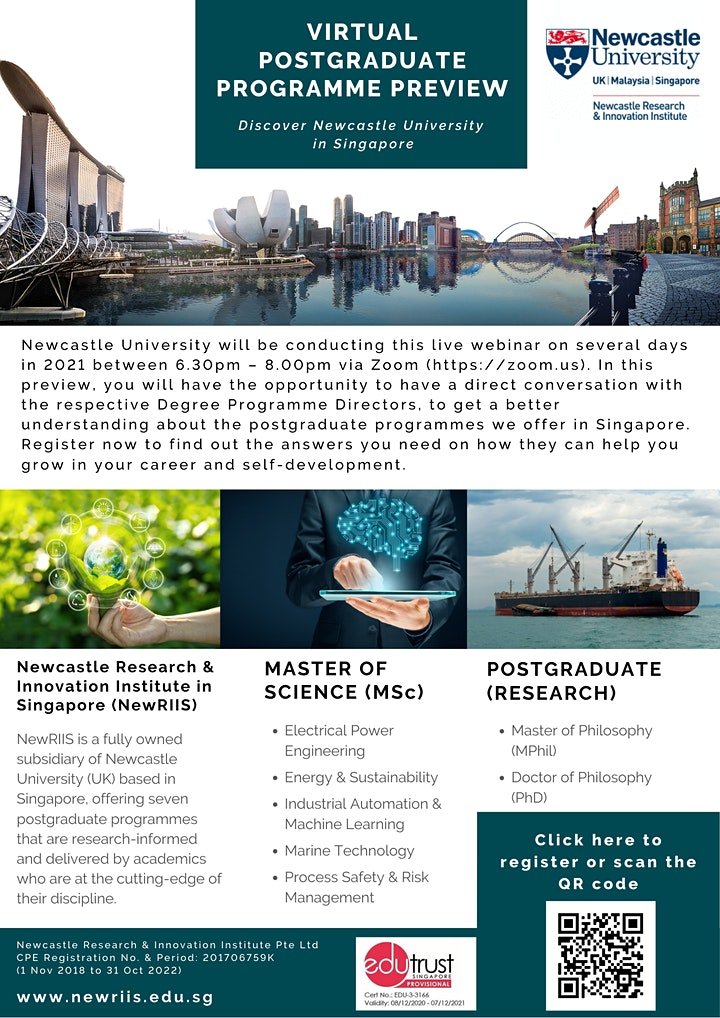 Postgraduate Programme Preview by Newcastle University in Singapore image