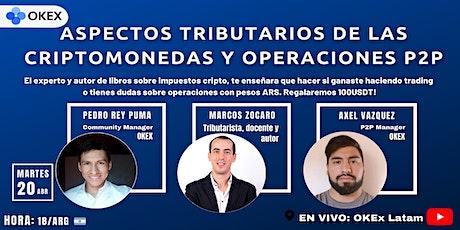 ASPECTOS TRIBUTARIOS DE LAS CRIPTOMONEDAS Y OPERACIONES P2P entradas