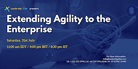 Extending Agility to the Enterprise - 310721 - Taiwan tickets