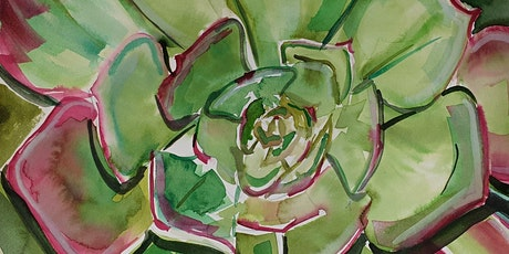 Succulent Drawing and Watercolour Workshop  Inspired by Nature -13Yrs & Up tickets