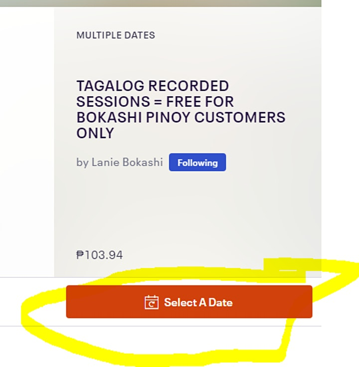 TAGALOG RECORDED SESSIONS =   FREE FOR BOKASHI PINOY CUSTOMERS ONLY image
