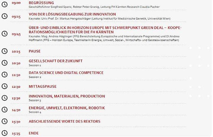 Online Konferenz: Tag der Forschung 2021: Bild