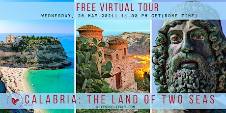 FREE VIRTUAL TOUR: Splendours of Calabria -  Exploring the Land of Two Seas tickets
