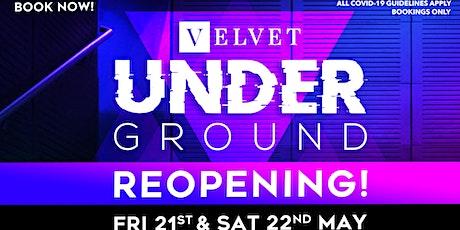 Velvet Underground Reopening tickets
