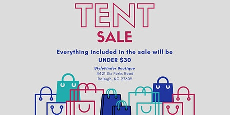 HUGE Tent Sale tickets