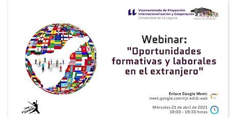 Webinar: Oportunidades formativas y laborales en el extranjero entradas