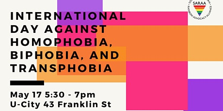 International Day Against Homophobia, Biphobia, and Transphobia tickets