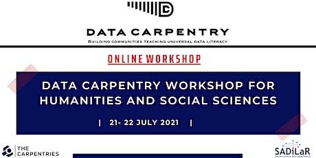 Data Carpentry Online Workshop UNIVEN 21-22 July 2021 biglietti