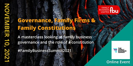 Governance, Family Firms & Family Constitutions tickets