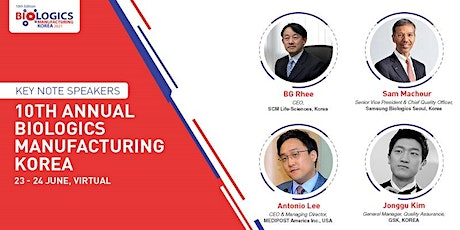 Annual Biologics Manufacturing Korea tickets
