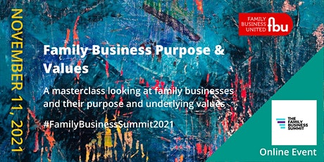 Family Business Purpose & Values tickets