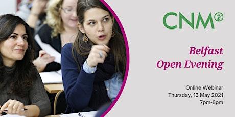 CNM Belfast: Online Open Evening - Thursday, 13 May 2021 tickets