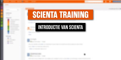 Scienta Introductietraining 10 juni  2021 tickets