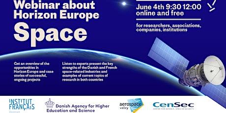 Danish French webinar about Horizon Europe - Space billets