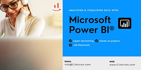 #1 Power BI Training,  Analyzing and Visualizing Data with MS Power BI tickets