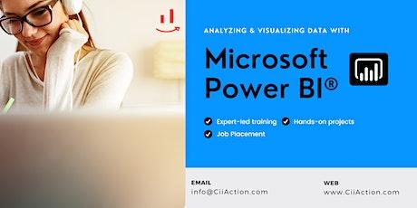 #1 Power BI Training,  Analyzing and Visualizing Data with MS Power BI tickets