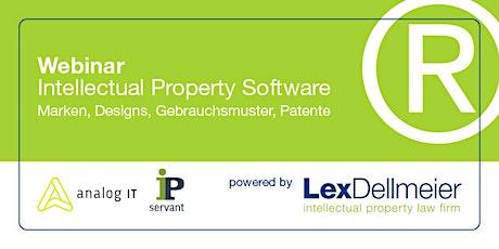 Intellectual Property Software - Marken, Designs, Gebrauchsmuster & Patente tickets