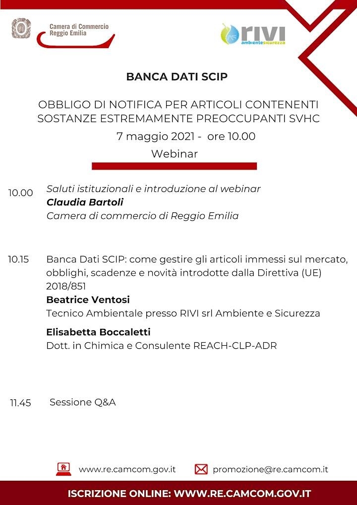 """Immagine WEBINAR """"BANCA DATI SCIP – OBBLIGO DI NOTIFICA PER ARTICOLI CONTENENTI SOST"""