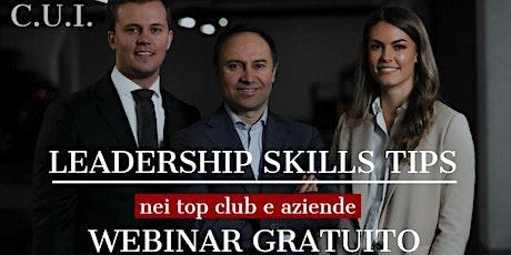 LEADERSHIP E NEUROSCIENZE NEI TOP CLUB E AZIENDE biglietti