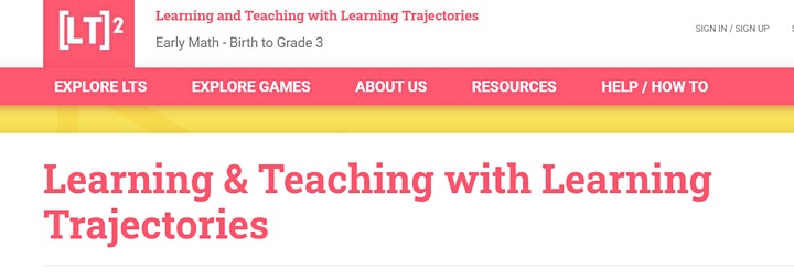 """An introduction to using """"Learning Trajectories"""" resource in the EYFS/Yr1 image"""