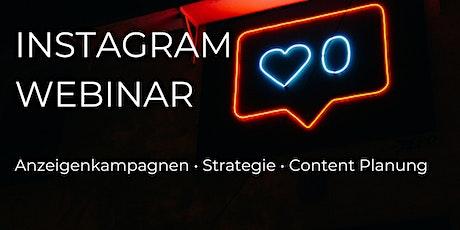 Instagram Webinar: Anzeigenkampagnen, Strategie und Content Planung tickets