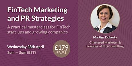 FinTech Marketing and PR Strategies: a Masterclass biglietti