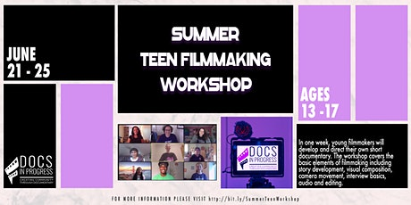 Summer Teen Filmmaking Workshop tickets