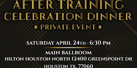 After Training Celebration Event  Dinner and Live music tickets