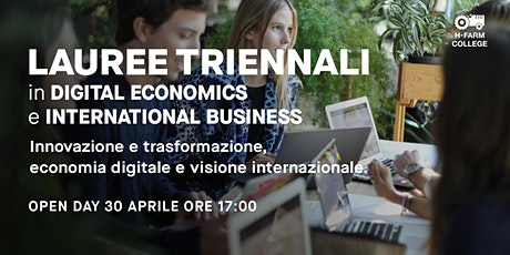 Open Day Digital Economics and Finance + International Business Studies biglietti