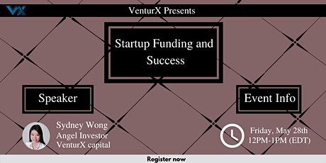 Startup Funding and Success Webinar tickets