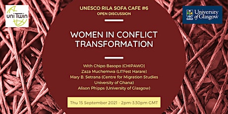 UNESCO RILA Sofa Café #6 - CUSP N+ Women in Conflict Transformation tickets