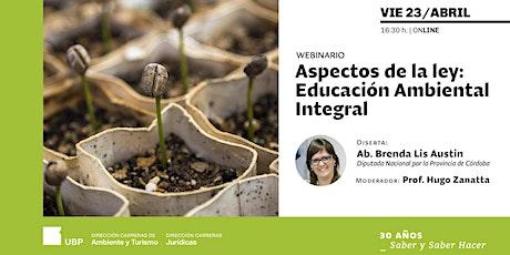 Aspectos de la ley Educación Ambiental Integral boletos