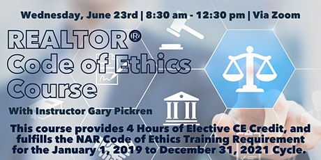REALTOR® Code of Ethics Course - June 23rd tickets