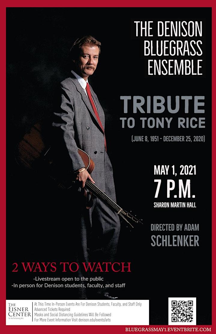 Bluegrass Ensemble Pays Tribute to Bluegrass Legend Tony Rice image