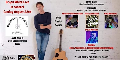 Bryan White LIVE with Michelle Robinson, Amy Newhart and MORE! tickets