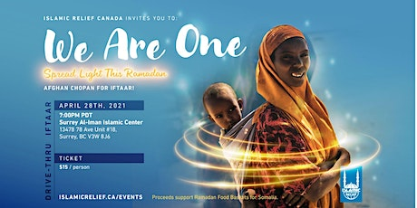 Surrey Al Iman Islamic Center Drive-Thru Iftaar tickets