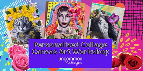 Personalized Collage Canvas Art Workshop tickets
