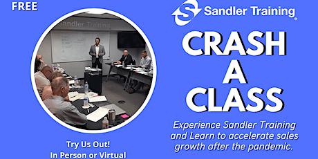 Sales Training (FREE)- Crash A Class - Sandler Training San Antonio tickets