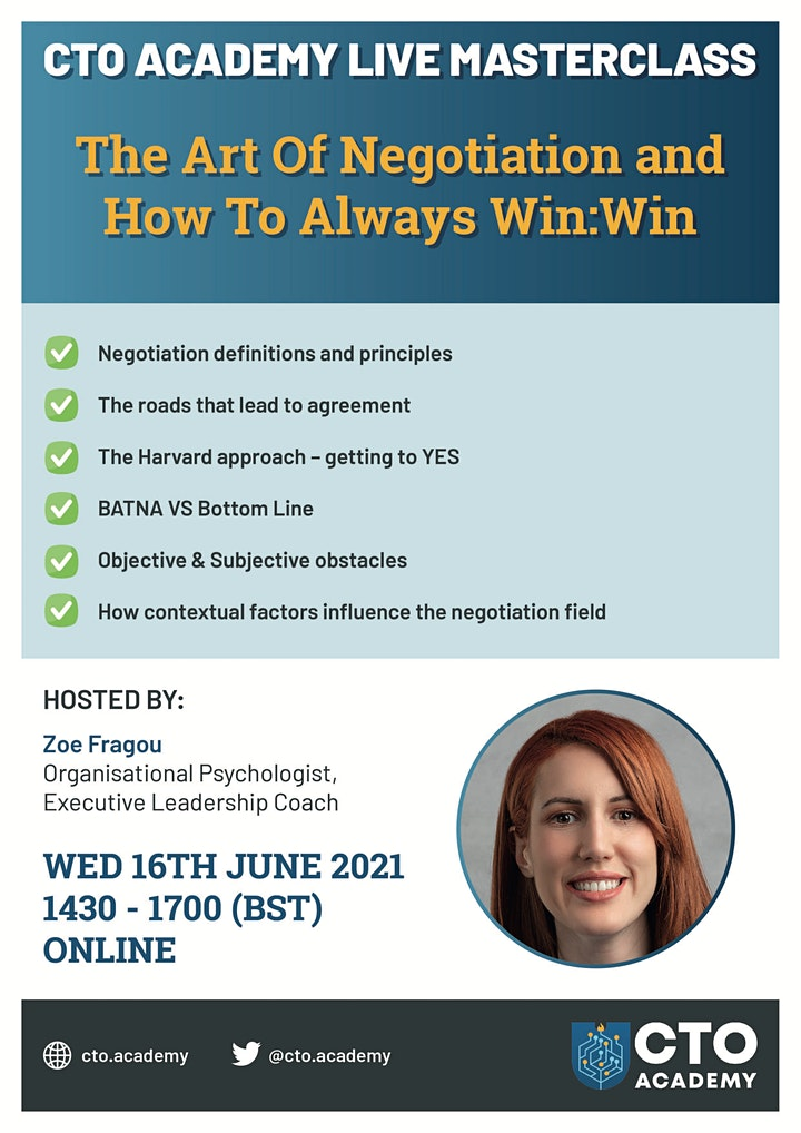 The Art of Negotiation and How To Always Win:Win image