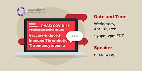 PHAC COVID-19 Vaccine Webinar: VITT tickets
